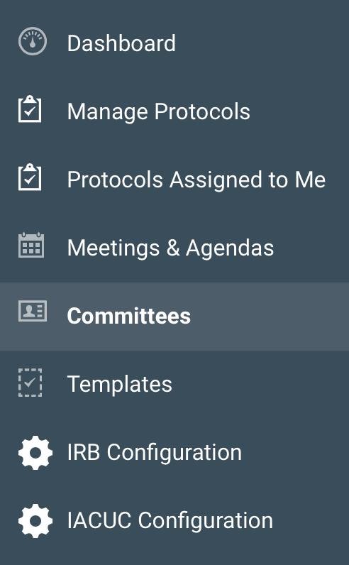 Protocols committees kuali research committeemenug maxwellsz